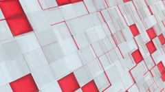 Abstract gray, red and pink squares looped motion background Stock Footage