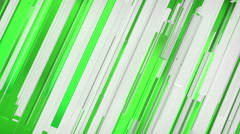 Abstract green and whire lines motion background Stock Footage