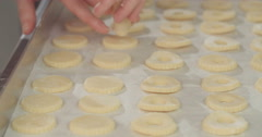 Preparation of butter cookies Stock Footage