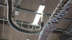 4K printing press: line  roof Stock Footage