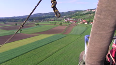 Sight from ballooning Stock Footage