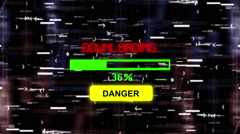 Danger downloading progress bar - stock footage