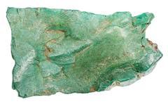 Volkonskoite natural mineral isolated on white Stock Photos