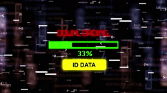 Id data downloading concept - stock footage
