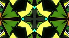 Disco neon kaleidoscope Stock Footage