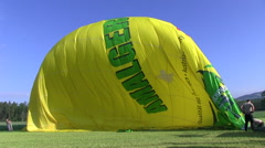 Landing after ballooning Stock Footage