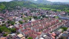 Aerial Campo Grande (west side) neighbourhood Rio de Janeiro Stock Footage
