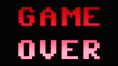 Game over 8bit retro 4k Stock Footage