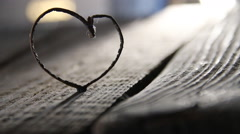 Valentine heart idea Stock Footage