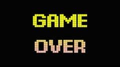 Game over cubes 4k Stock Footage