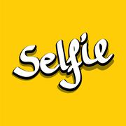 Taking Selfie Photo on Smart Phone vector image Piirros