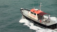 PILOT boat  waving goodbye take  Arkistovideo