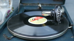 Old Vinyl Record Spinning Stock Footage