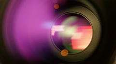 Opening And Closing Camera Lens Diaphragm Stock Footage