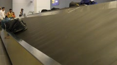 Baggage Bags Moving Arrival Baggage Belt Airport 4k luggage Carousel Bags Stock Footage
