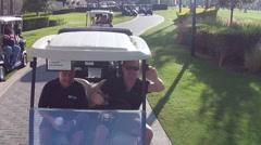 Too many Golf Carts around area  Stock Footage