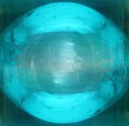 blue ball - stock photo