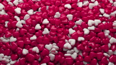 Heart Candy Falling to The Ground, 3d Animation 4k Stock Footage