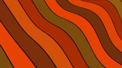 Undulated lines in brown,orange and green Stock Footage