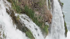 Large waterfall in the park in the summer - stock footage