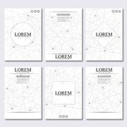 Vector brochure template, flyer, cover magazine in A4 size. Structure molecule - stock illustration