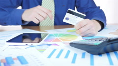 Credit Card Payment In Office - stock footage