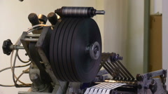 Industrial equipment close up Stock Footage