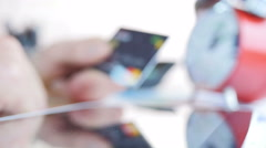 Businessman Using Card For Shopping Stock Footage