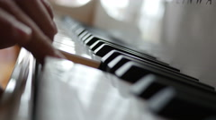Man Playing Piano Stock Footage