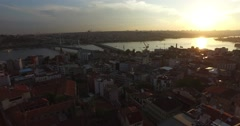 Istanbul panorama from Galata Tower - stock footage