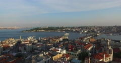 Istanbul panorama from Galata Tower Stock Footage