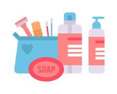 Skin corrective cosmetics vector illustration - stock illustration