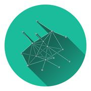 Connection net icon Stock Illustration