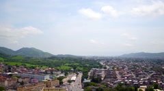 Aerial Campo Grande (west side) neighbourhood Rio de Janeiro - stock footage