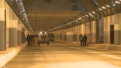 Construction of a tunnel Stock Footage