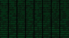 Green 8-Bit Scrolling Binaries Screensaver (24fps) Stock Footage