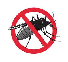 No mosquito sign isolated on white background Stock Illustration