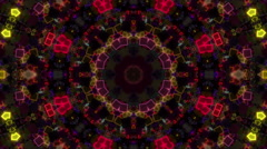 Disco neon kaleidoscope - stock footage