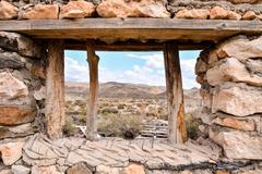 Desert Tabernas in Almeria Province Spain - stock photo