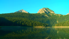 Black Lake in the national park Durmitor, Montenegro Stock Footage