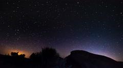 Night Sky Hyper-lapse time-lapse 4k Stock Footage