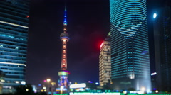 Shanghai Lujiazui district view - stock footage