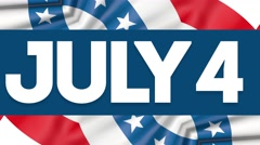 July 4 Independence Day 4K Looping Video Animation Stock Footage