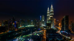 Cloudy Sunset Time Lapse at Kuala Lumpur. Stock Footage