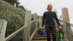 Scuba Diver Underwater Filmmaker Photographer 4K 5K Stock Video Footage Stock Footage