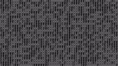 Binary Digits Screensaver (30fps) Stock Footage