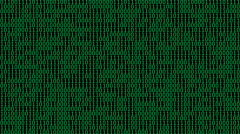 Green Binary Digits Screensaver (24fps) Stock Footage
