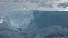Huge blocks of ice Stock Footage