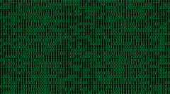 Green Binary Digits Screensaver (25fps) Stock Footage