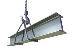 Crane hook lifting of steel beam Stock Illustration